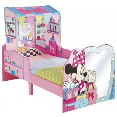 Lit petit-enfant 70x140 cm Minnie Mouse  avec tente coloris rose collection Armadale