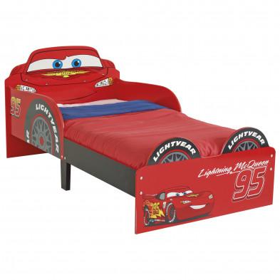 Lit petit enfant 70x140 cm design Cars Disney coloris rouge collection Guimaraes