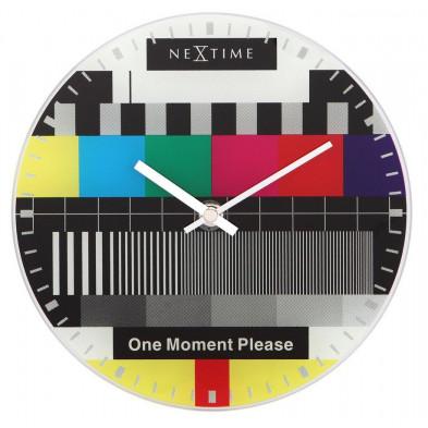 Horloge à poser multicouleur design en verre collection Emelia