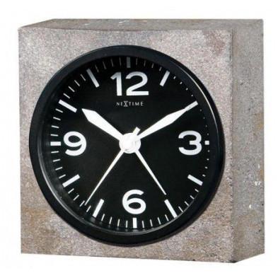 Réveil gris en  métal collection 9,5 x 9,5 x 3,2 cm  Vanvlerken