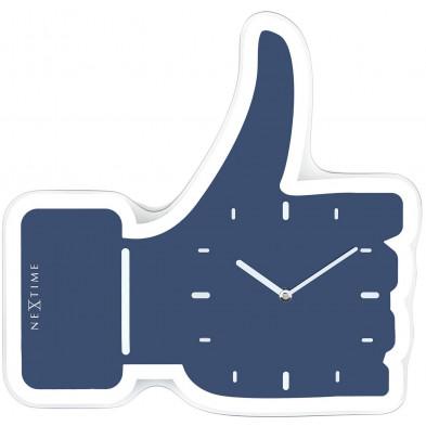 Horloge à poser bleu moderne en collection Vickey