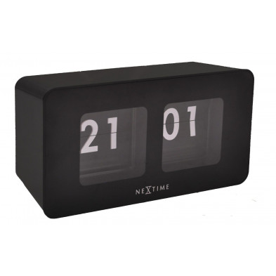 Horloge à poser noir en plastique  9 x 17,5 cm collection Ezkioitsaso