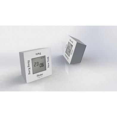 Horloge à poser blanc  collection Silex