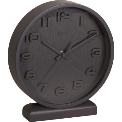 Horloge à poser gris en bois massif  22 x 20 cm   collection Asten