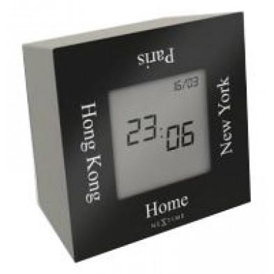 Horloge à poser  coloris noir 7,4 x 7,4 cm  collection Silex