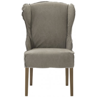Lot de 2 fauteuils au style contemporain en tissu et bois de chêne coloris vert clair L. 65 x P. 74 x H. 105 cm collection