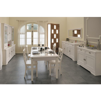 Salle à manger complète contemporain en blanc Collection Padingbuttel