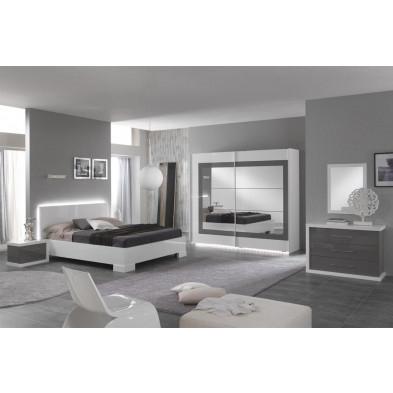 Chambre adulte complète blanc moderne en collection Anapaola
