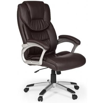 Chaise et fauteuil de bureau marron design en PVC L. 67 x P. 60 x H. 112 - 122 cm collection Farla