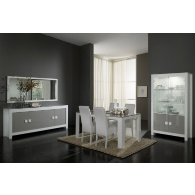 Salle à manger complète blanc design collection Ilene