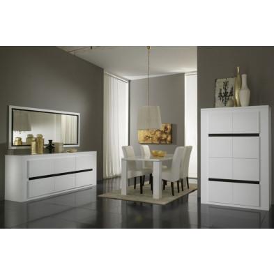 Salle à manger complète blanc design collection Portland