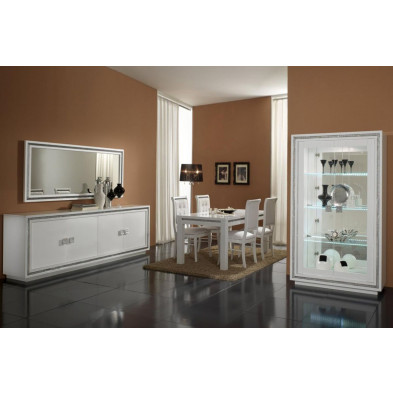 Salle à manger complète blanc design collection Groenlo