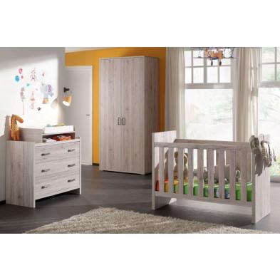 Chambre bébé complète marron contemporain en collection Eldard