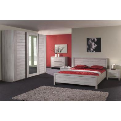Chambre adulte complète gris contemporain collection Brownlees