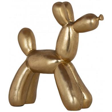 objet de décoration or design en polyrésine, L. 26.5 x P. 10.5 x H. 28 cm,  collection Dog Richmond Interiors Richmond Interiors