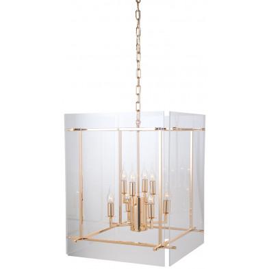Suspension coloris or et transparent design en acrylique et fer forgé, L. 51 x P. 51 x H. 64 cm collection Chessà  Richmond Interiors Richmond Interiors
