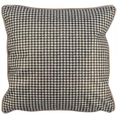 Coussin et oreiller coloris argenté et noir design en polyester,  L. 45 x P. 45 cm  collection Joy Richmond Interiors Richmond Interiors