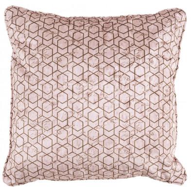 Coussin et oreiller or et rose design en polyester, L. 45 x P. 45 cm  collection Jesca Richmond Interiors Richmond Interiors