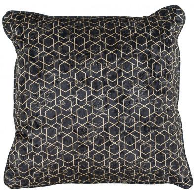 Coussin et oreiller noir et or design en polyester, L. 45 x P. 45 cm  collection Jezz Richmond Interiors Richmond Interiors