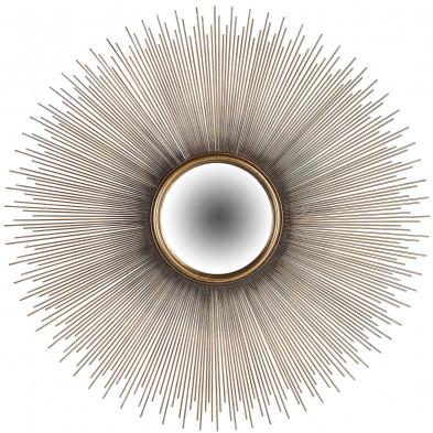 Miroir or design en bois mdf et miroir,  L. 90 x P. 2 x H. 90 cm collection Cass Richmond Interiors Richmond Interiors