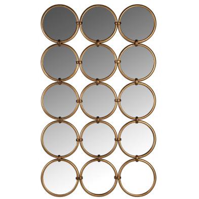 Miroir or design en fer forgé et miroir, L. 72 x P. 3 x H. 120 cm  collection Coley Richmond Interiors Richmond Interiors