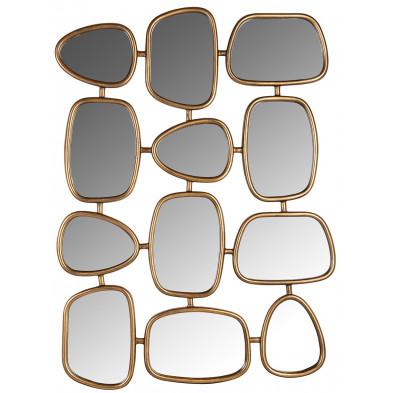 Miroir or design en fer forgé et miroir, L. 80 x P. 3 x H. 110 cm  collection Jeff Richmond Interiors Richmond Interiors
