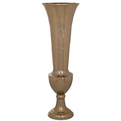 Vase design en aluminium coloris or collection Dionne L. 33 x P. 33 x H. 100 cm Richmond Interiors Richmond Interiors