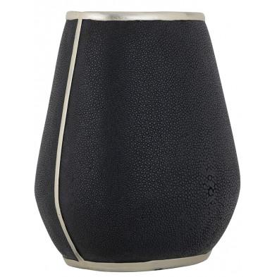 Vase design coloris en polyrésine noir collection Mayla L. 23.5 x P. 18.5 x H. 26 cm Richmond Interiors Richmond Interiors