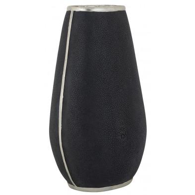 Vase design en polyrésine coloris noir collection Maese L. 20.5 x P. 17 x H. 36.5 cm Richmond Interiors Richmond Interiors