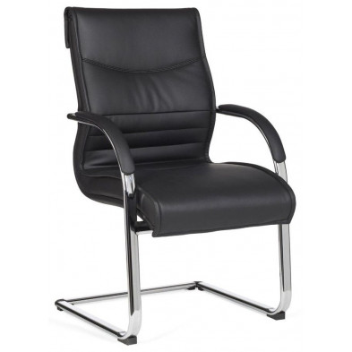 Chaise d'attente noir design en pvc L. 59 x H. 98 x P.59 cm collection Riotinto