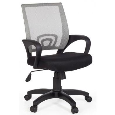 Chaise et fauteuil de bureau gris design en tissu 50 cm de largeur L. 50 x H. 88 - 97 cm x P.50 cm  collection Nurnberg