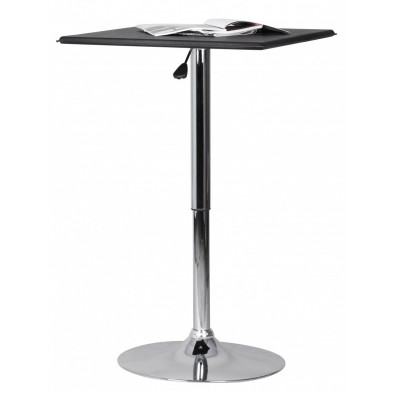 Table de bar noir design en pvc L. 63 x P. 63 x H. 83 - 104 cm collection Synonymous