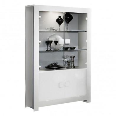 Vitrine blanc design en panneaux de particules de haute qualité L. 112 x P. 44 x H. 190 cm collection Lamswaarde