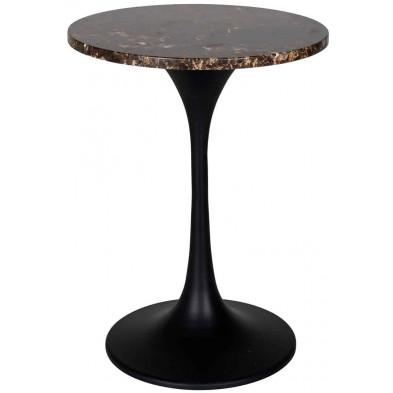 Table d'appoint marron industriel en acier L. 45 x P. 45 x H. 60 cm collection Orion Richmond Interiors