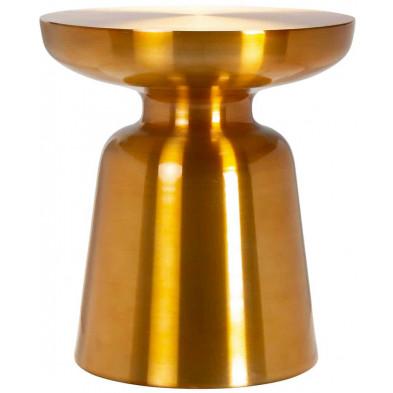 Table d'appoint or design en aluminium 38 cm x 38 cm collection Odette Richmond Interiors