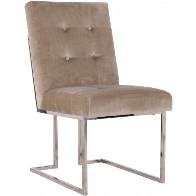 Chaise de salle à manger  Beige Design en Acier inoxydable L. 50 x P. 66 x H. 89 cm collection Madison Richmond Interiors