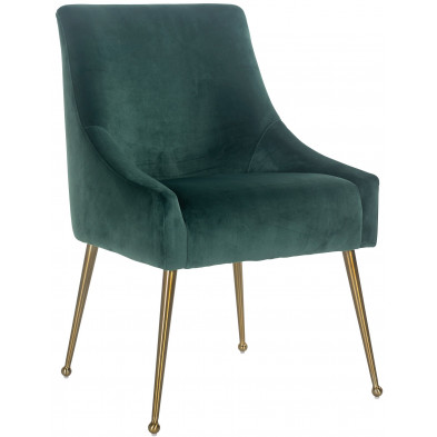 Chaise de salle à manger Vert Design en Acier inoxydable L. 56 x P. 61.5 x H. 86 cm collection Indy Richmond Interiors