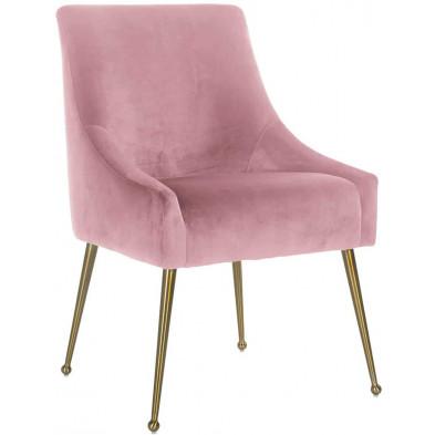 Chaise de salle à manger Rose Design en Acier inoxydable L. 56 x P. 61.5 x H. 86 cm  collection Indy Richmond Interiors
