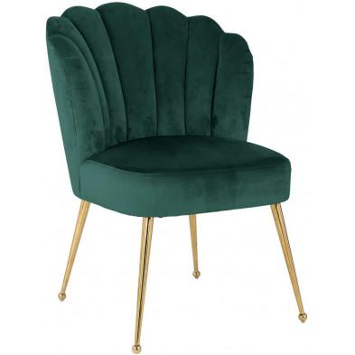 Chaise de salle à manger Vert Design en Acier inoxydable  L. 66 x P. 64 x H. 86 cm collection Pippa Richmond Interiors