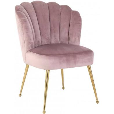 Chaises de salle à manger moderne Rose Design en Acier inoxydable  L. 66 x P. 64 x H. 86 cm collection Pippa Richmond Interiors