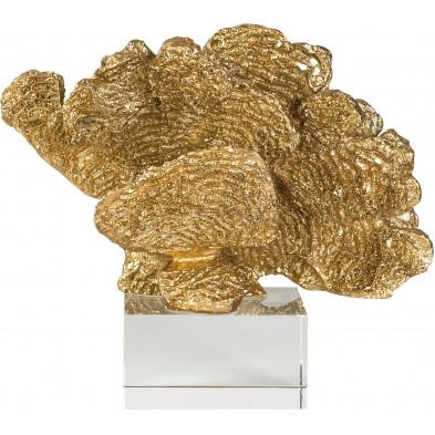 Déco figurine et statue or contemporain en résine synthétique  : L. 12 x P. 23 x H. 20 cm collection Aryan Richmond Interiors