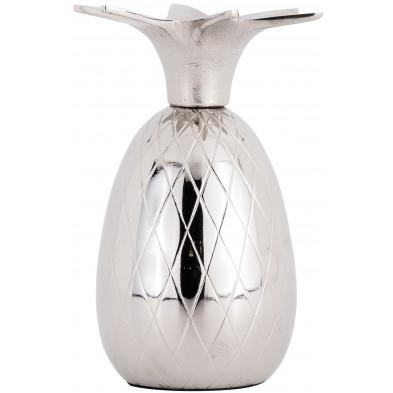 Bougeoirs et chandeliers argenté contemporain en aluminium L. 4.5 x P. 4.5 x H. 6 cm  collection izzy Richmond Interiors