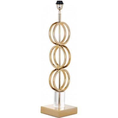Lampe à poser or design en acier inoxydable L. 17 x P. 17 x H. 78 cm collection Kayla Richmond Interiors