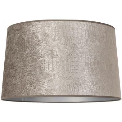Abat-jour argenté moderne en coton L. 40 x P. 27 x H. 45 cm  collection Marly Richmond Interiors