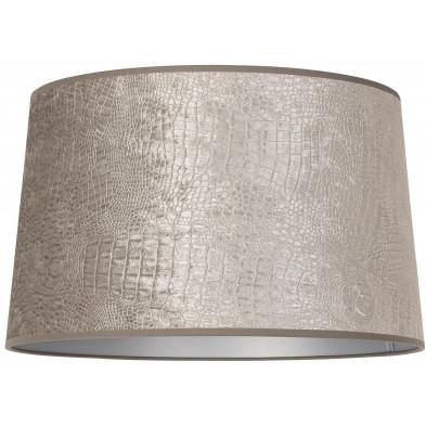 Abat-jour argenté moderne en coton  L. 35 x P. 24 x H. 40 cm collection Marly Richmond Interiors