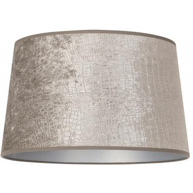 Abat-jour argenté moderne en coton L. 30 x P. 21 x H. 35 cm  collection Marly Richmond Interiors