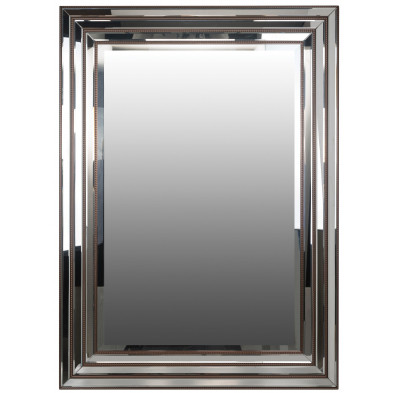 Miroir mural argenté design  L. 80 x P. 2.5 x H. 110 cm  collection Tyra Richmond Interiors