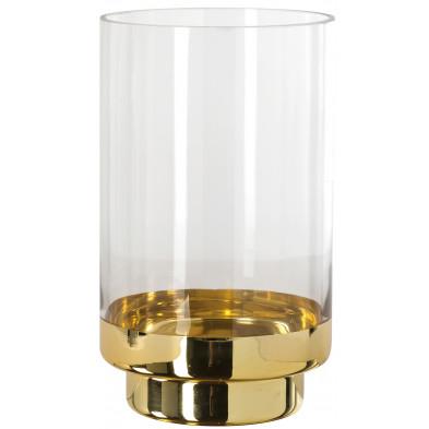 Bougeoir et chandelier or design en verre  L. 13 x P. 13 x H. 20.5 cm collection Olivier Richmond Interiors