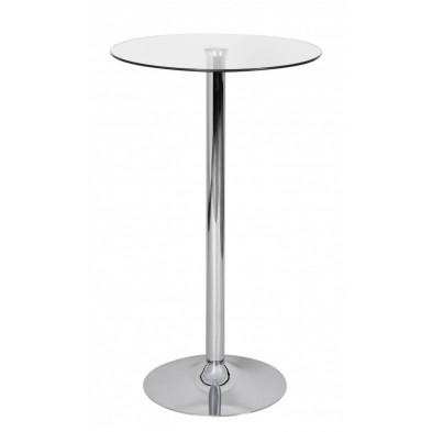 Table de bar transparent design en aluminium L. 60 x P. 60 x H. 105 cm collection Pace