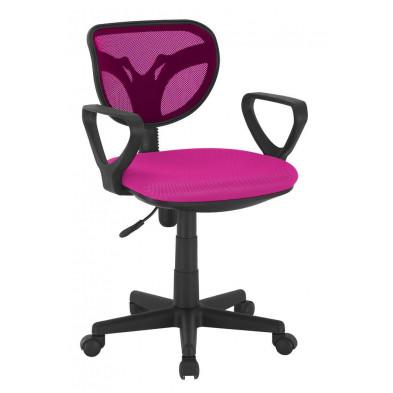Chaise et fauteuil de bureau rose design H.75 x L.58 x P.56.5 cm  collection Ingsque